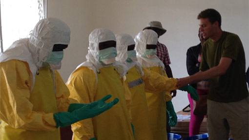 PPE Donning in an Ebola Treatment Unit in Liberia