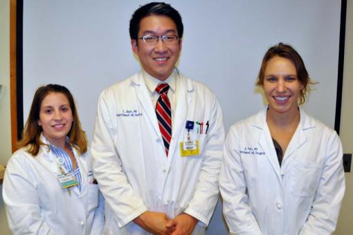 Versaci residents Whitney Young (2013-15), Tristen Chun and Brittany Potz (2014-16)