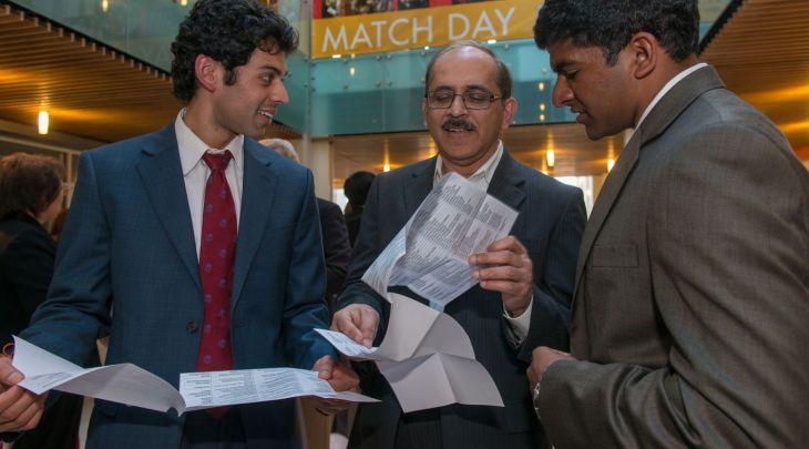 Alpert Medical School students celebrate Match Day 2014.