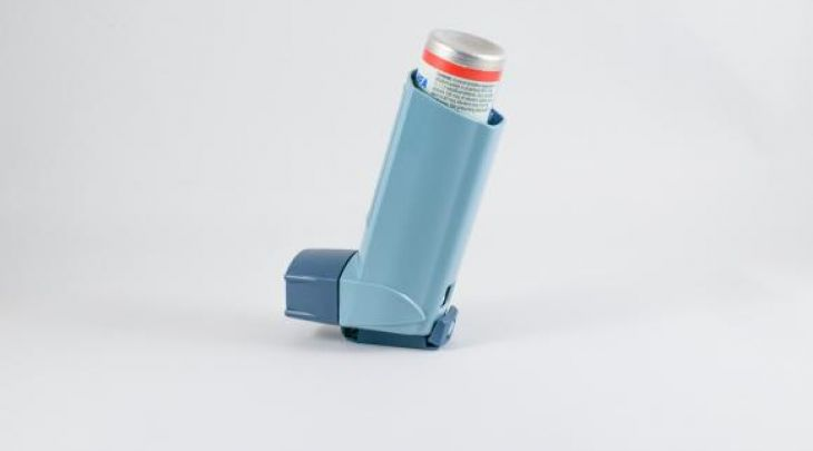 image of inhaler often used by adults and children with asthma