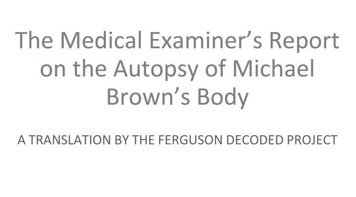 screencap of lay translation of medical evidence presented in Ferguson case