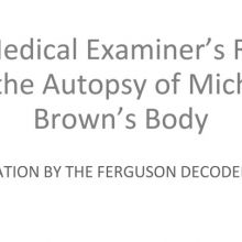screencap of lay translation of medical evidence presented in Ferguson case