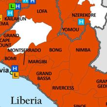 section of ebola outbreak map