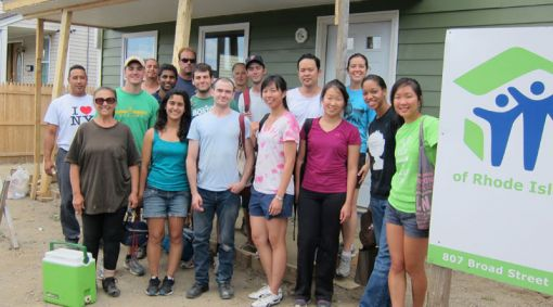 Alpert medical students volunteer for Habitat for Humanity in Providence