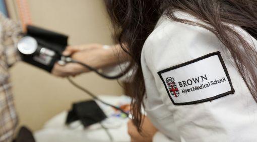 Brown medical school student