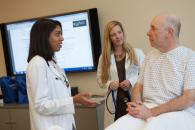 Skills-building space: Students interact with standardized patients in the state-of-the-art Clinical Skills Suite.