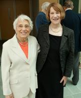 Ruth Sauber with 2011 lecturer, Sandra Lehrman.