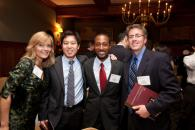 Donors and students meet at the annual scholarship celebration.