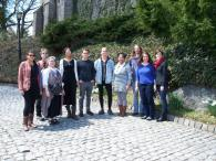 Medieval Studies students at the Cloisters Museum, NY