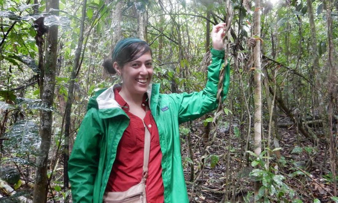 Amy Teller in a Brazilian rainforest