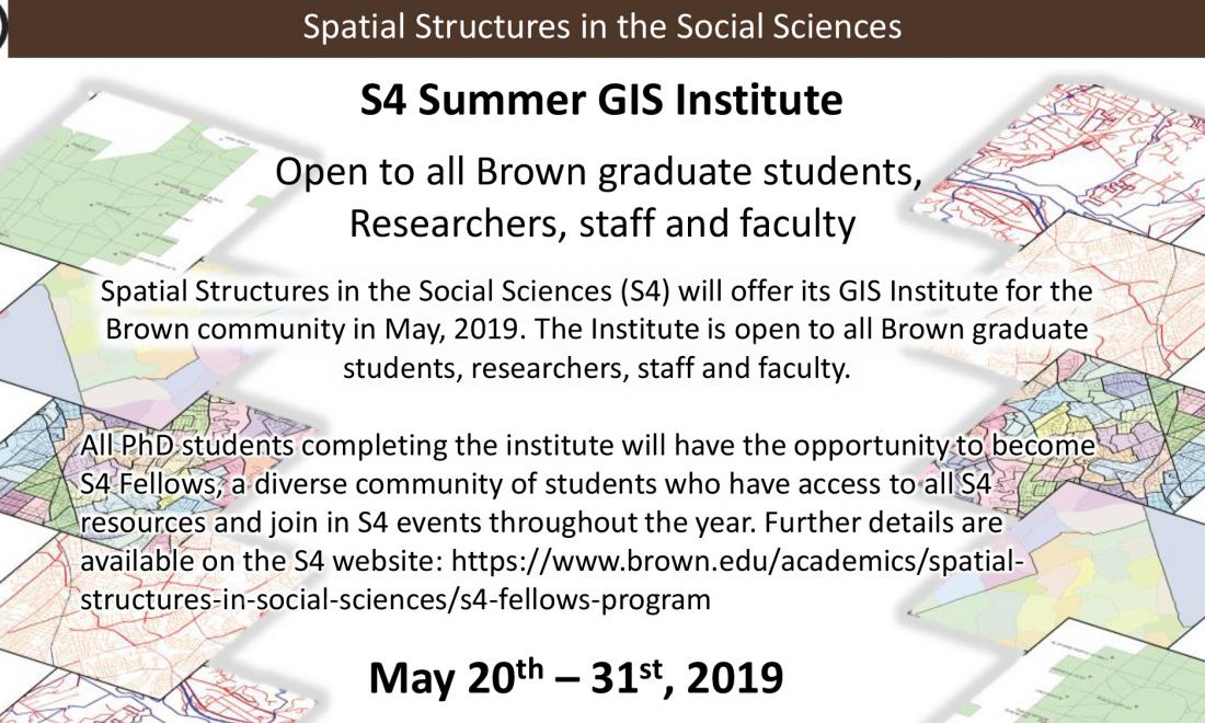 GIS Summer 2019 Institute Flyer, cropped