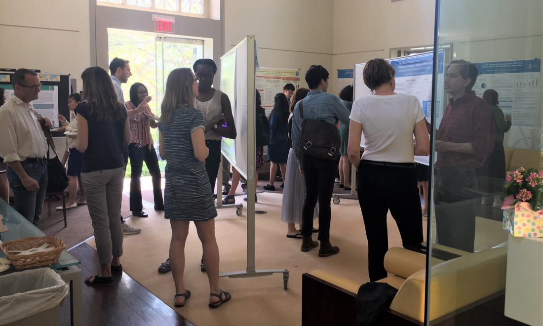 2018 pizza and poster session in the PSTC lobby