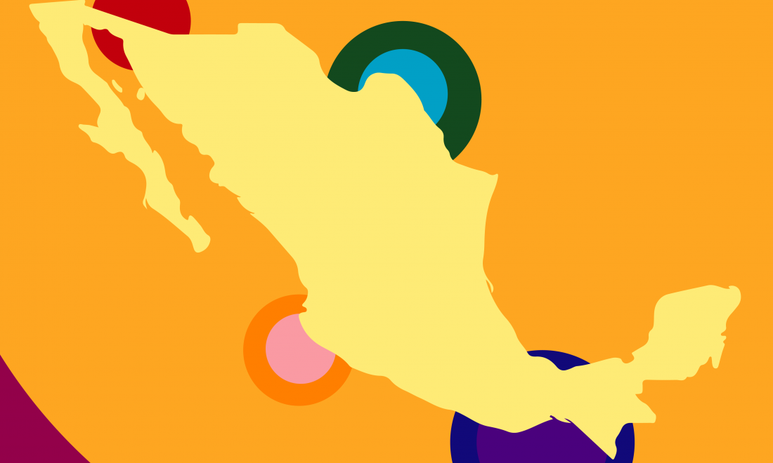 graphic with map of mexico