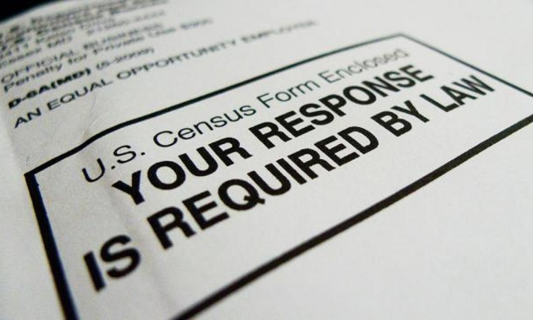envelope containing U.S. census