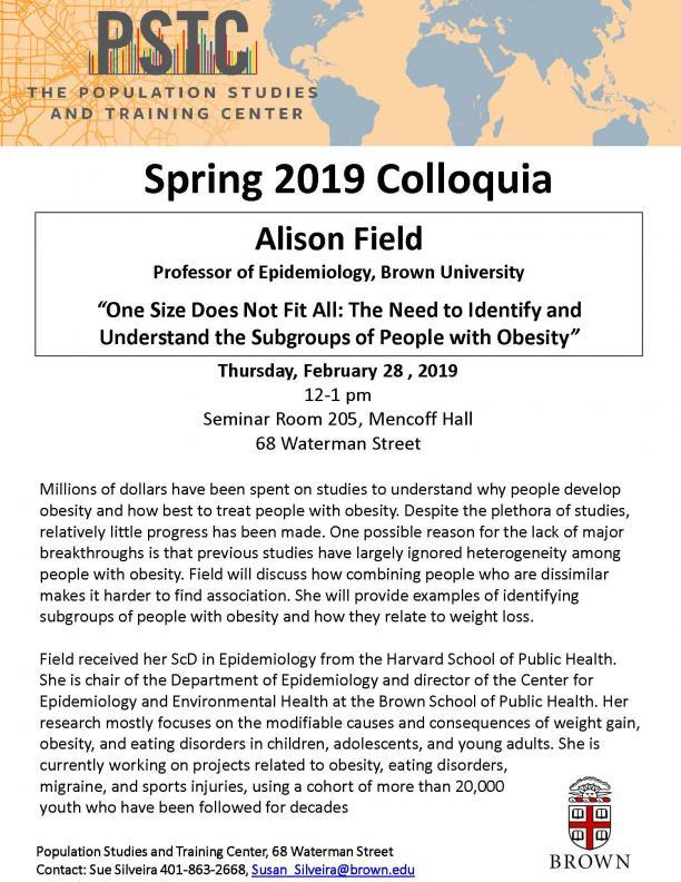 Flyer for Field talk