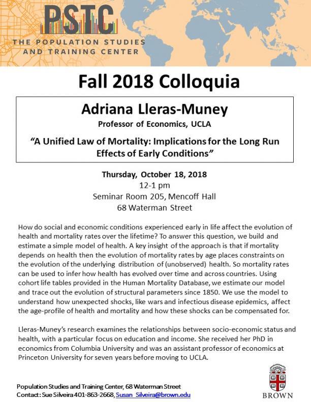 Flier for Leras-Muney talk