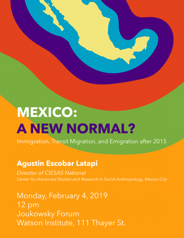 Poster for talk with map of Mexico