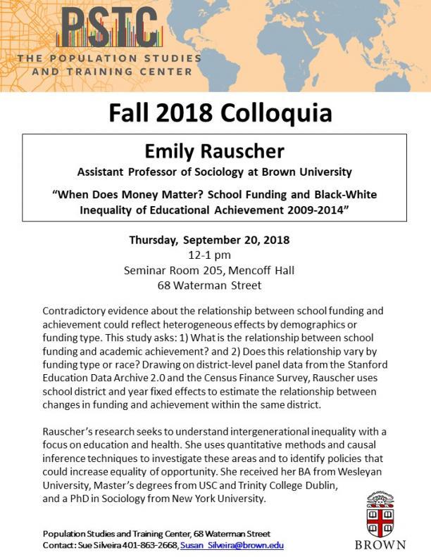 Flier for Rauscher talk