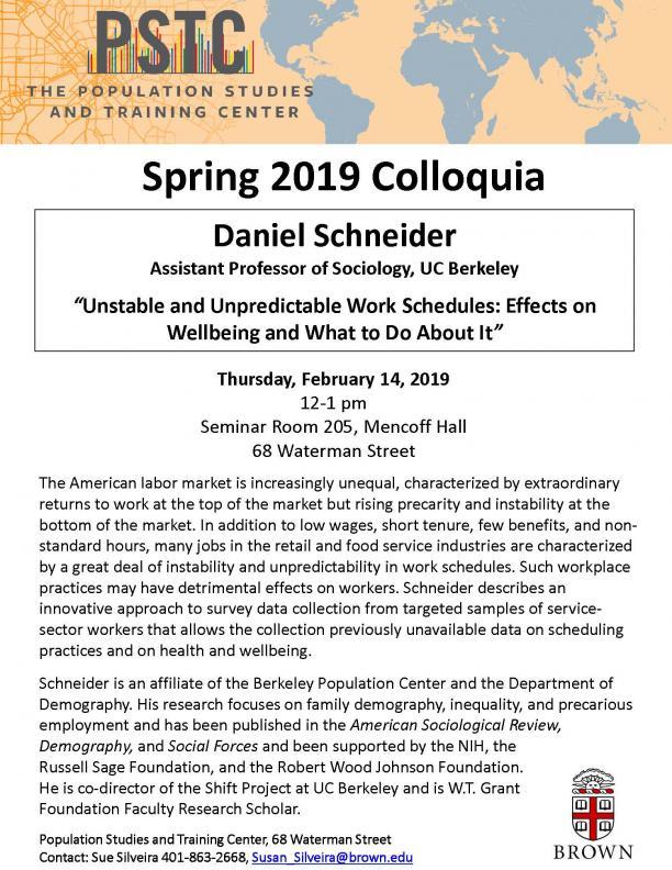 Flyer for Schneider talk