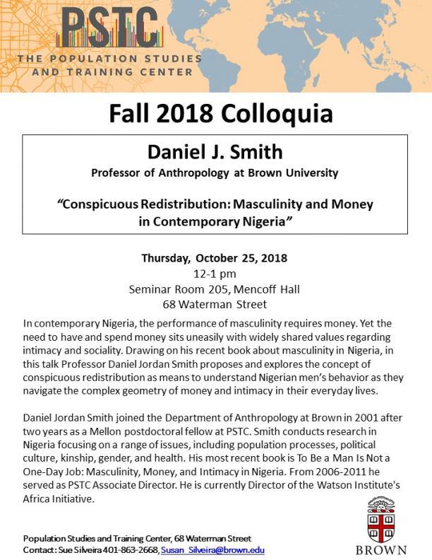 Flier for Smith talk