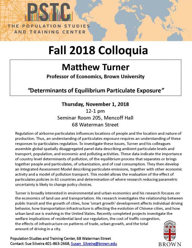 flyer for Matthew Turner talk