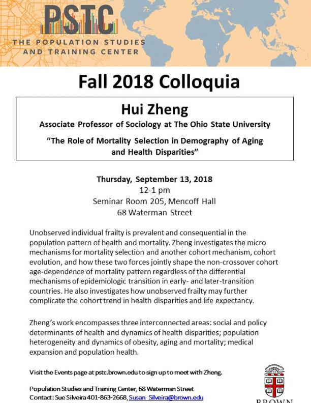 Flier for Zheng talk