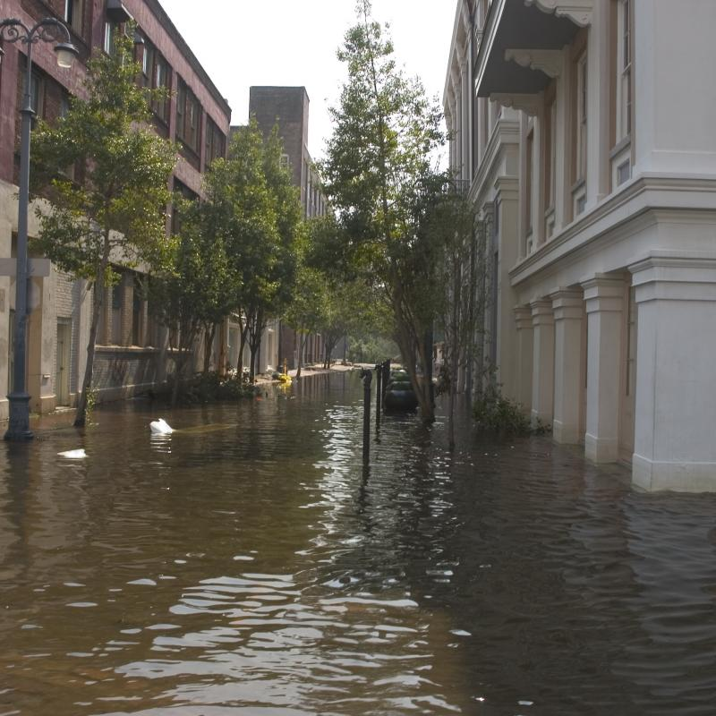 Flooding during Hurricane Katrina