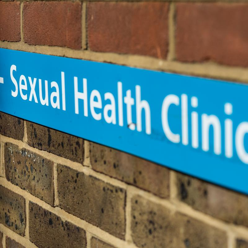 Sexual Health Clinic Entry Sign