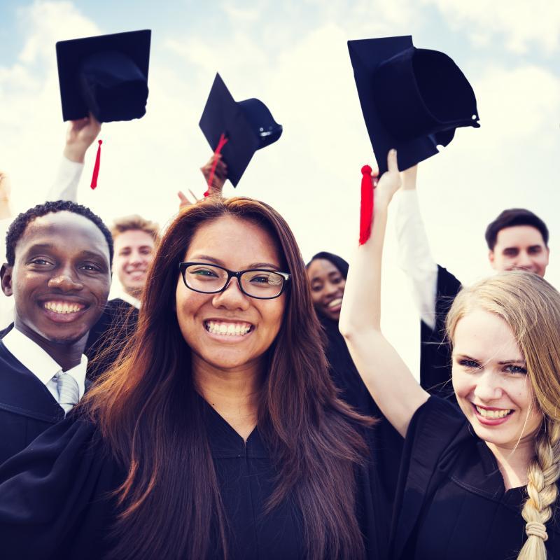 diverse college grads
