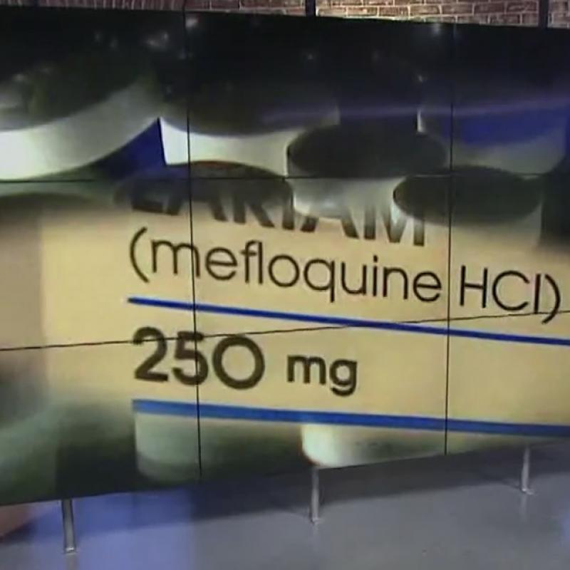 photo of mefloquine package and pills