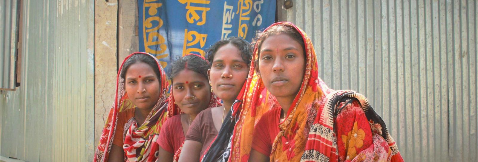 Four mothers of young children in Bangladesh