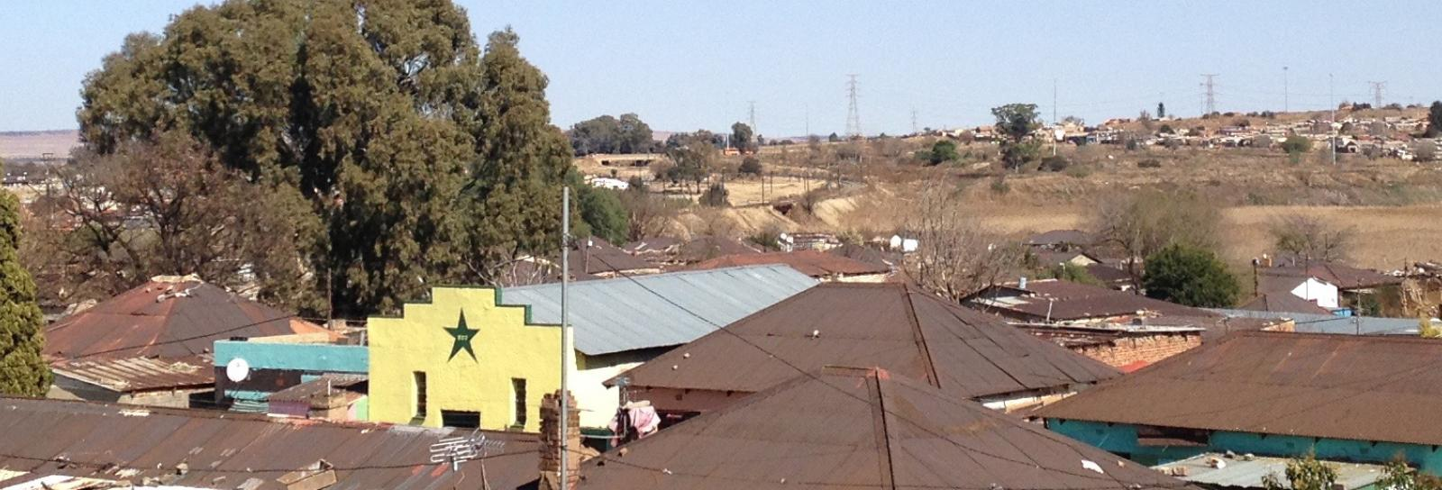 photo across the rooftops in Soweto
