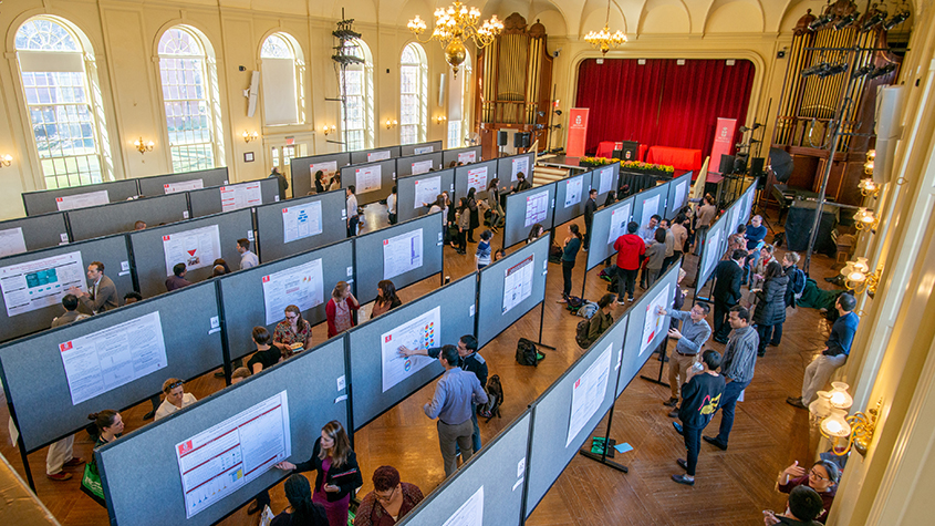 Research day poster event