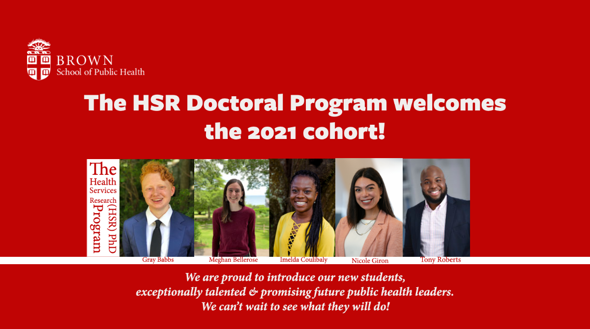Fall '21 Incoming Cohort: Meet Gray Babbs, Anthony Roberts, Nicole Giron, Meghan Bellerose and Imelda Coulibaly!