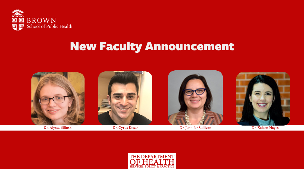 HSPP Department Announces New Faculty Hires
