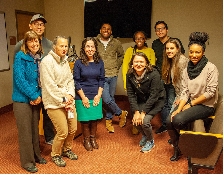 SIZED HSR Doctoral Students with HSR Seminar Speaker Abigail Friedman on Nov. 13, 2019.png