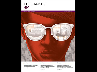 Lancet cover-man with sunglasses