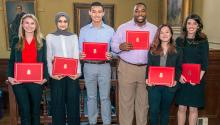 Winners of the 2017 Public Health Research Day