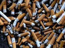 A bunch of cigarette butts