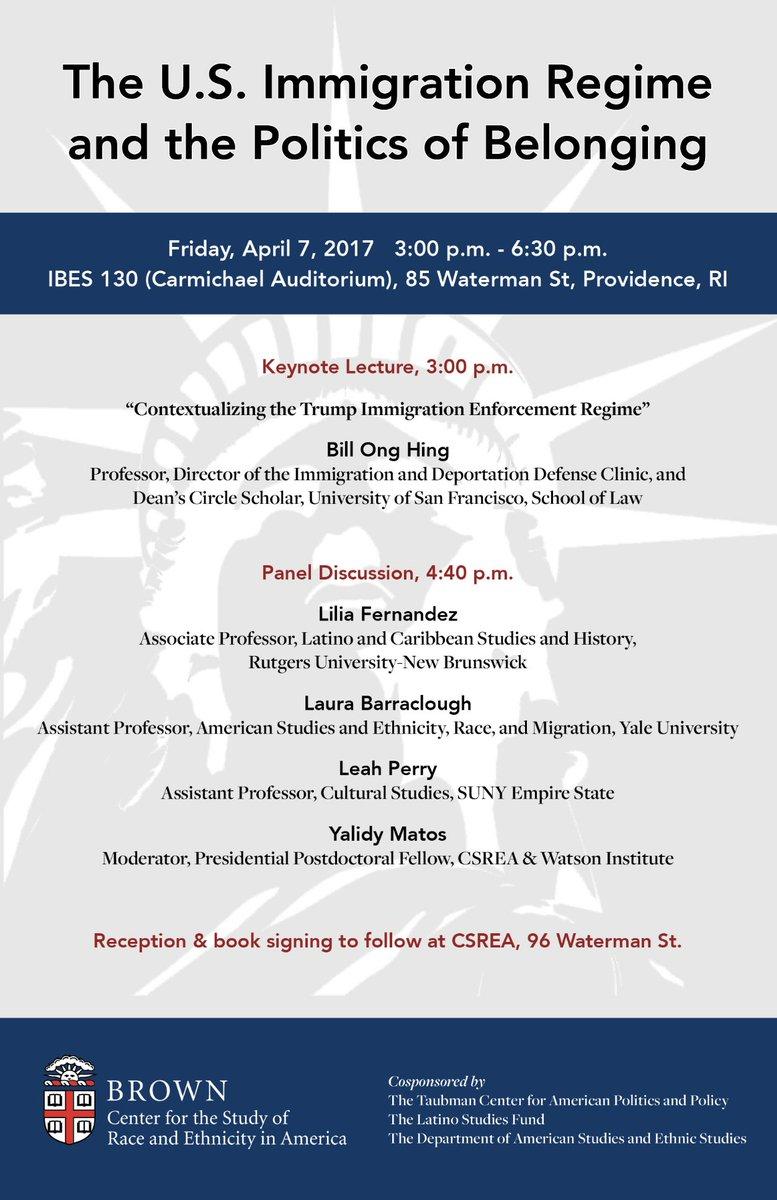 Symposium: The U S  Immigration Regime and the Politics of