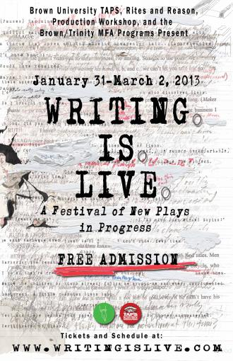 Writing Is Live Poster, 2013