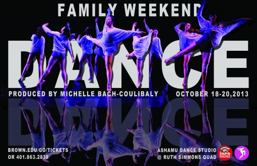 2013 Family Weekend Dance Concert poster