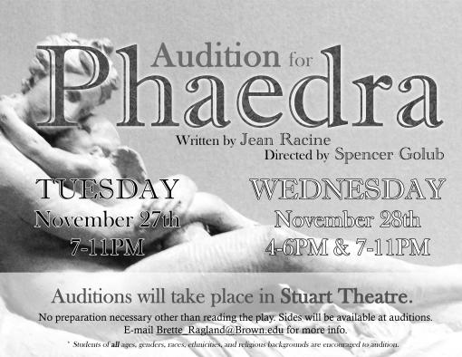 Phaedra Audition poster