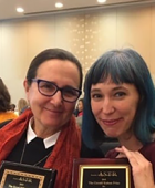 Professor Rebecca Schneider and PhD alum Michelle Liu Carriger at the 2019 ASTR awards ceremony