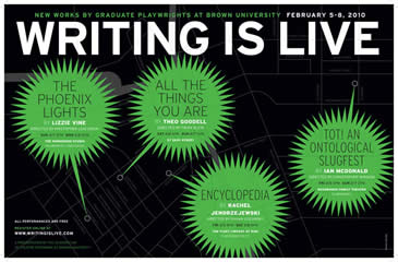 Writing is Live poster 2010