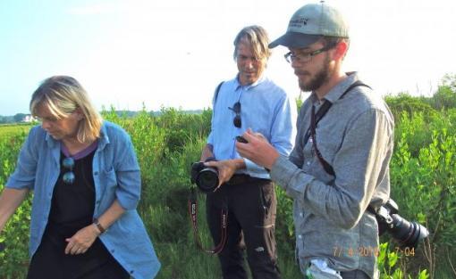 Bryndis Snaebjornsdottir and Mark Wilson, with Evan Lipton at Jacob's Point