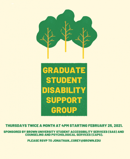 Graduate Student Disability Support Group: Graduate Student Disability Support Group poster