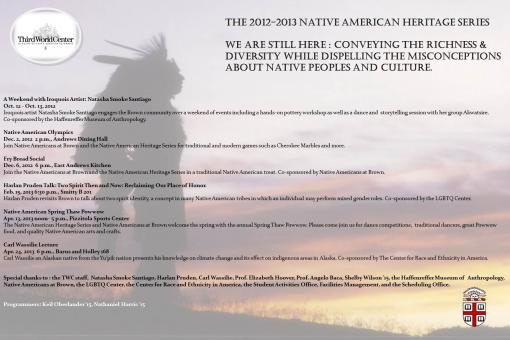 Native American Heritage Series 2012-2013