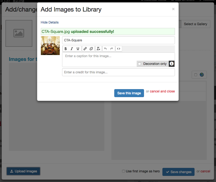 Add images to library