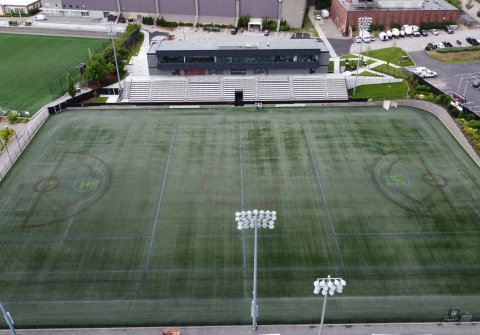 East field aerial view